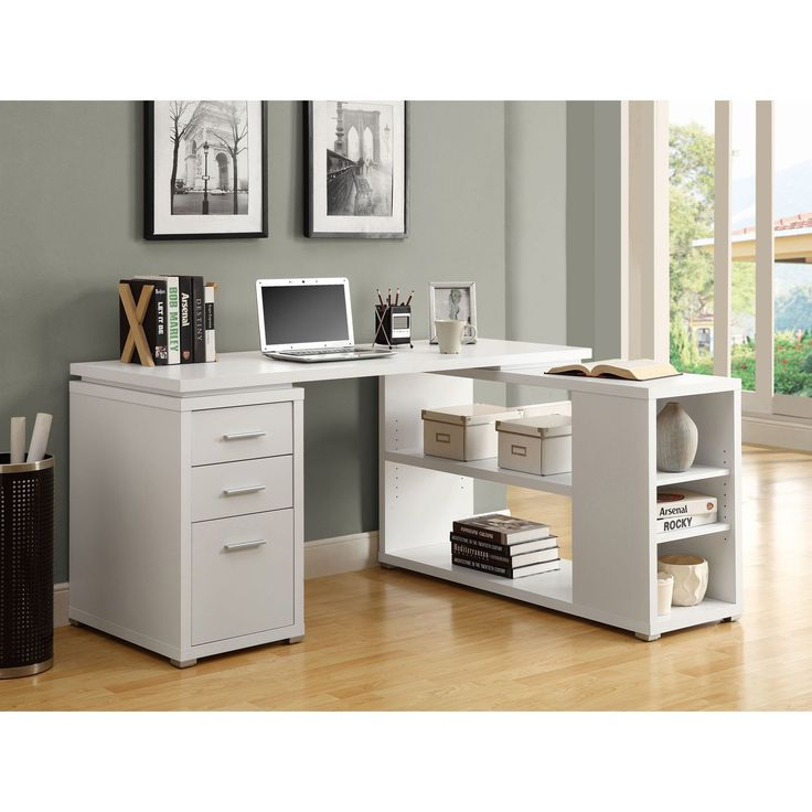 Monarch Hollow Core Left or Right Facing Corner Desk   White   Desks at  Hayneedle25 best Desk images on Pinterest   Office furniture  Office spaces  . Everything Office Furniture Corner Computer Desk. Home Design Ideas