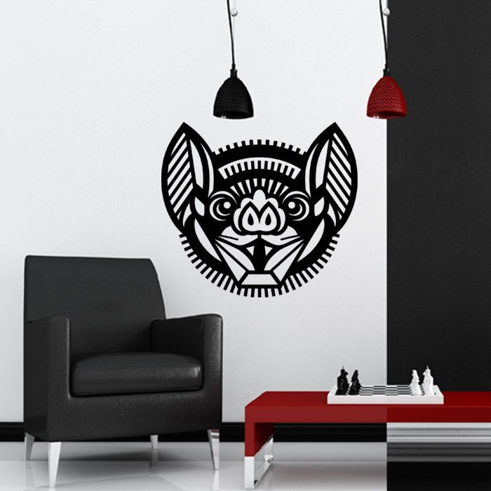 Wall Decal Bat, Home Decor, Vinyl Sticker Decal - Good for Walls, Cars, Ipads, Mirrors Etc by PSIAKREW on Etsy
