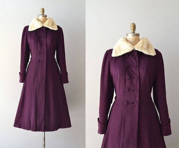 Ianthine coat /  vintage 40s wool princess coat / 1940s wool coat
