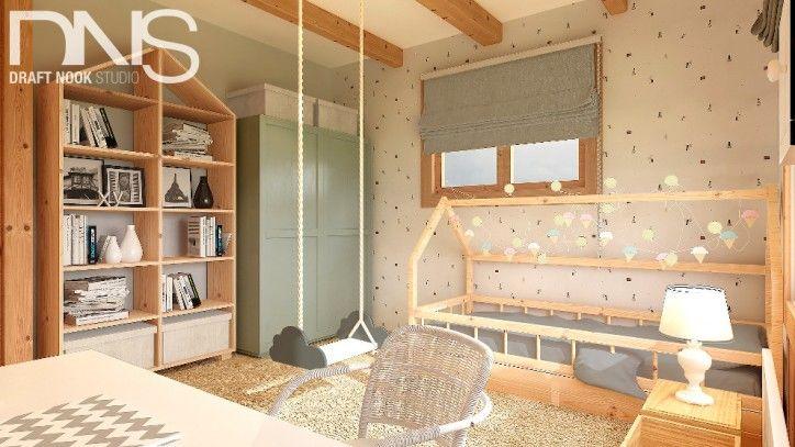 Pokój dziecka - dom z bali