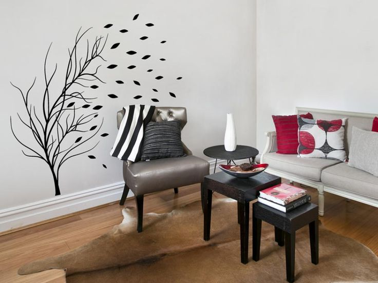 Stickers muruax avec arbres peuvent engendrer l'effet original dans votre intérieur #stickers #ashésifs #murs #home #decor #décorations