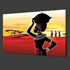 Resultado de imagen para pinturas de africanas en acrilico