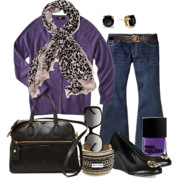 Purple Fall - Plus Size #plus #size #outfit