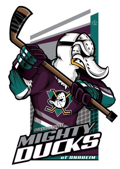 Need a Mighty Ducks of Anaheim cartoon? #EPoole88 (Eric Poole) has ya covered!