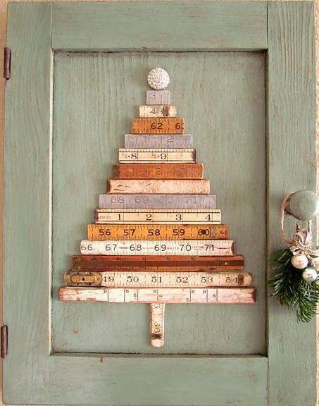 Ruler Christmas tree.