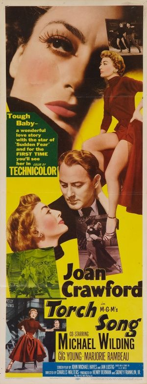 Movie poster, Torch Song, starring Joan Crawford