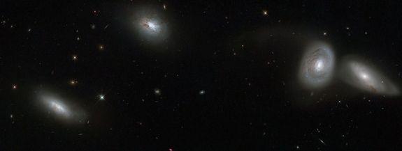 Hubble Telescope Captures 'Bizarre Cosmic Quartet' of Galaxies