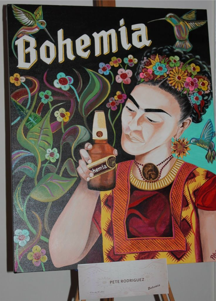 Bohemia beer with Frida labeling