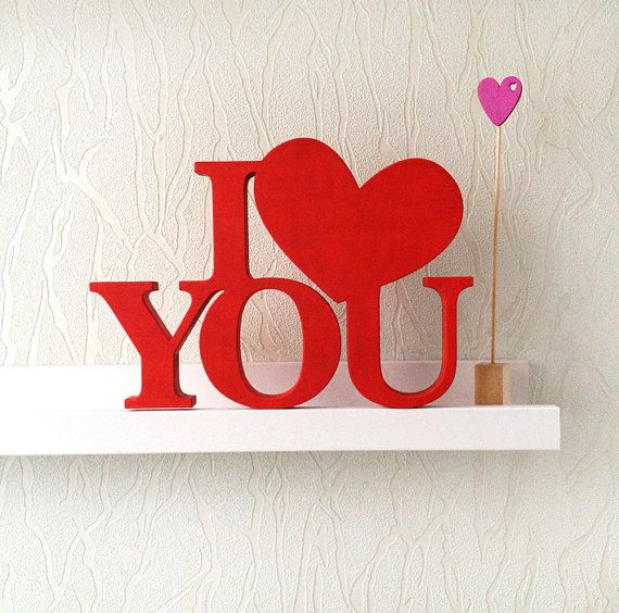 Wood Word Sign 'I LOVE YOU' - for Wedding or love story Photography. Home decor and romantic gift on valentine's day. on Etsy, $37.23 CAD