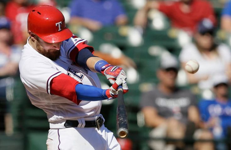 Top 50 MLB players for 2017:     46. Jonathan Lucroy, 30, Texas Rangers, C/1B:     Probably regrets blowing up his trade to the Indians, but he'll continue to be a big help in Texas after hitting a career-high 24 homers with an .855 OPS in 142 games split with the Brewers last season.