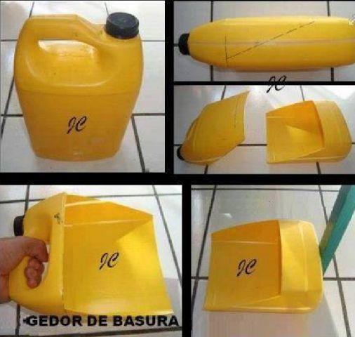 Cómo hacer un recogedor de basura con un bidón de plástico paso a paso