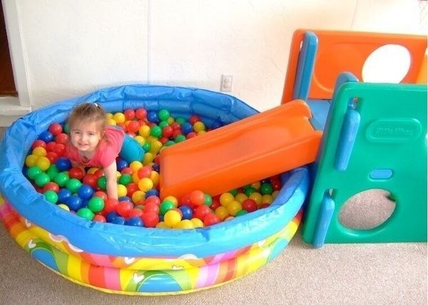 Dry Ball Pool Baby Colorful Soft Plastic Air Balls Sea Playground Pit Toy Gift