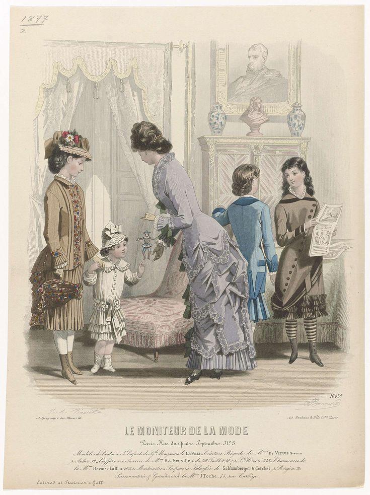 Le Moniteur de la Mode, 1879, No. 1645e : Modèles de Costumes..., J. Bonnard, A. Leroy, Ad. Goubaud et Fils, 1879