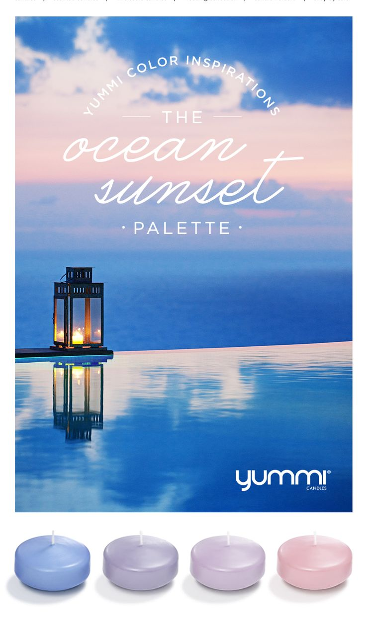 The Ocean Sunset Palette! Yummi Color Inspirations. Shop Now at…