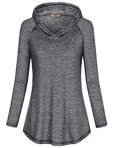 8a6f4bb953de Womens Long Sleeve Pullover Lightweight Activewear Hoodie Sweatshirt ...