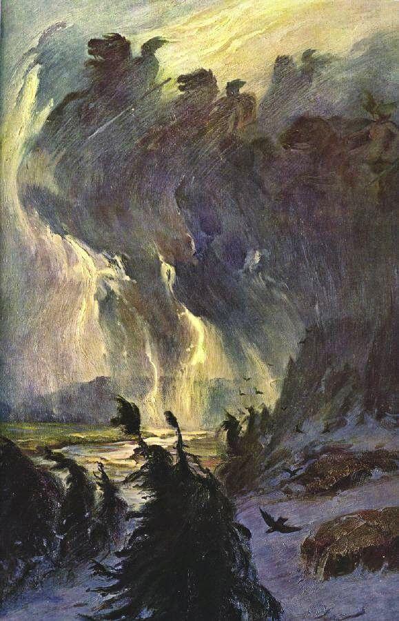 Le Prince Lointain: Hermann Hendrich (1854-1931), La Chevauchée des Va...