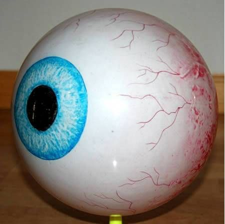 Eyeball Bowling Ball: All Eyes on the Pins … combining my love of optometry and bowling = perfect!