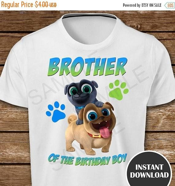 On Sale 30 Puppy Dog Pals Brother Of The Birthday Boy Iron On Boy Birthday Birthday Boy Shirts 1st Boy Birthday