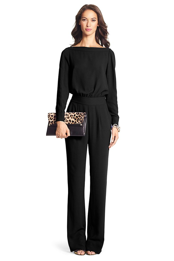 Cynthia Long Sleeve Jumpsuit | by DVF