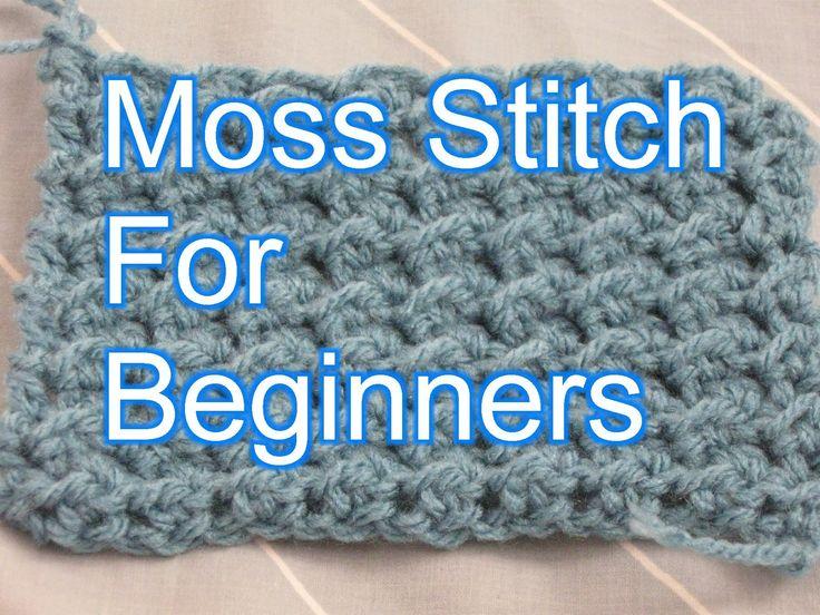 Beginner Crochet Stitches 26 - Moss Stitch Tutorial - Slow Motion