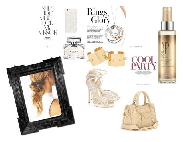 """""""Luxe oil wella"""" by selfies-i on Polyvore featuring beauty, Wella, JFR, Balenciaga, Tiffany & Co., Rika and Gucci"""