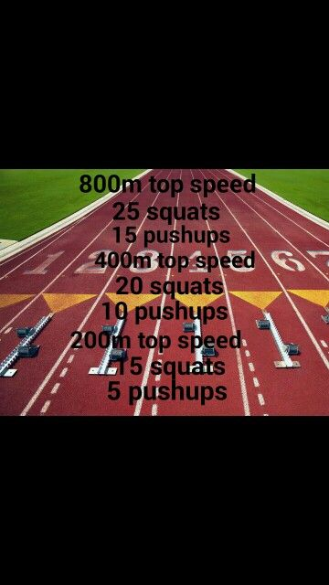 Mid distance track workout