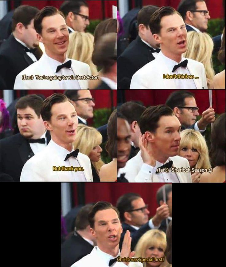 """""""Benedict Cumberbatch everybody. He certainly will get one ....someday!"""