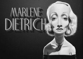 marlene dietrich german film movies caricature celebrity actress cinema  art   decor   wall art   inspiration   caricatures   home decor   idea   humor   giftssinger