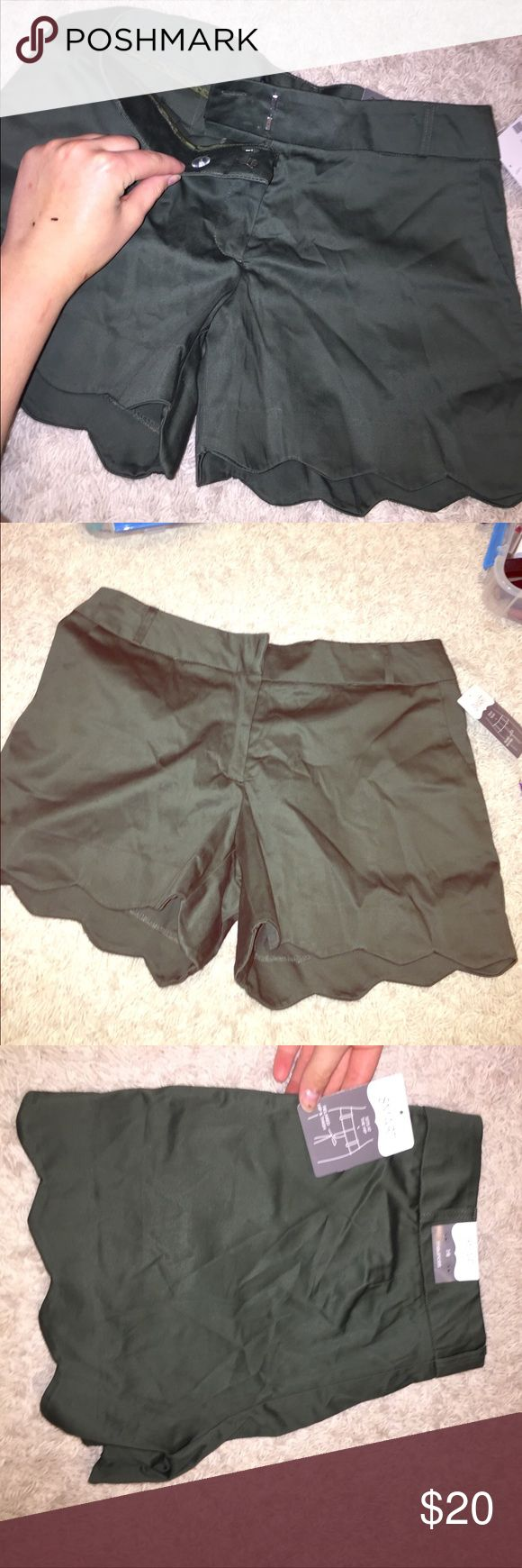 Maurice's Smart shorts Brand new shorts.  They have a scalloped edge to the bottoms.  Super cute, but cannot return without receipt. Maurices Shorts