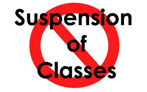 Class Suspensions on Thursday until Friday, October 17 - 18, 2013 #Walangpasok