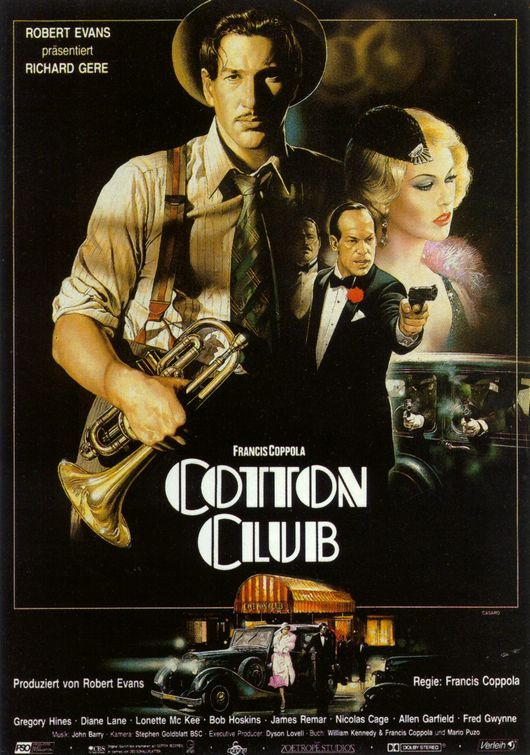 """The Cotton Club"" (1984) / Director: Francis Ford Coppola / Writers: William Kennedy (screenplay), Francis Ford Coppola (screenplay) / Stars: Richard Gere, Gregory Hines, Diane Lane"