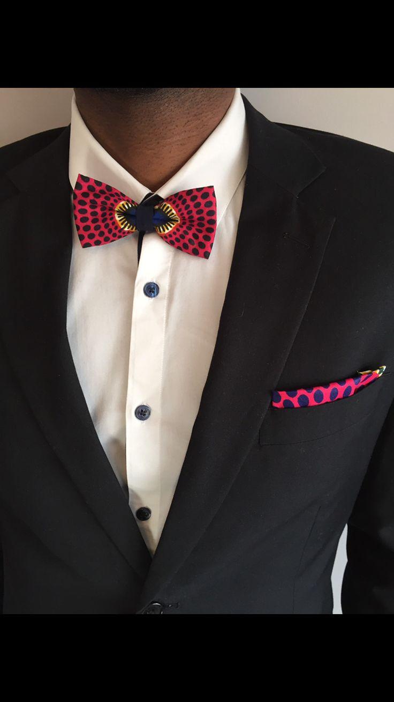 Noeud papillon pour Homme Wax Fuchsia : Echarpe, foulard, cravate par kasolya