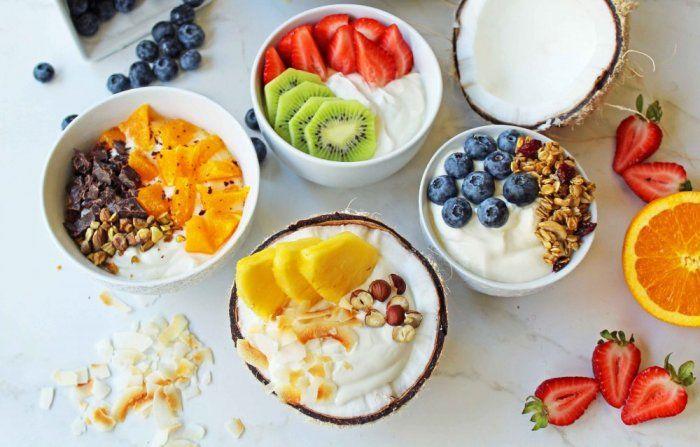 ماهي اهم مكونات وجبة الفطور الصحية في فصل الشتاء Yogurt Breakfast Bowl Food Greek Yogurt Breakfast Bowl