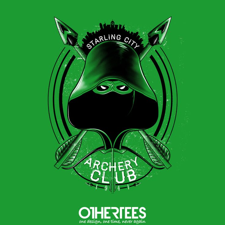 """Archery Club"" by MitchLudwig T-shirts, Tank Tops, Sweatshirts and Hoodies are on sale until 27th October at www.OtherTees.com Pin it for a chance at a FREE TEE! #greenarrow #arrow #dc #dccomics #comics #oliverqueen #othertees"