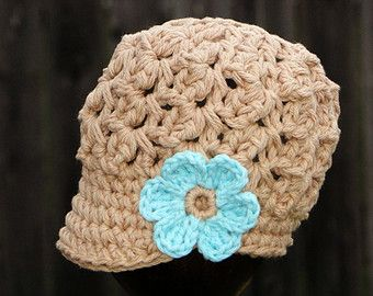 Hat for Girls crochet baby hat kids hat newsboy by JuneBugBeanies