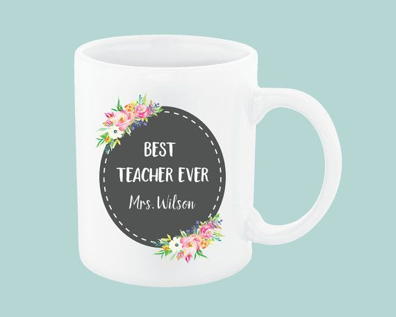 """Best Teacher Ever"" teacher coffee mug. The perfect gift for your preschool teachers, daycare providers & daycare teachers, teacher assistant or teacher aide, nanny, babysitters, Sunday school teachers, etc. Best Teacher Ever, Daycare Provider Gifts, Preschool Teacher Mug, Teacher Aide, Daycare Teacher Gift Daycare Teacher Preschool Teacher Gifts"