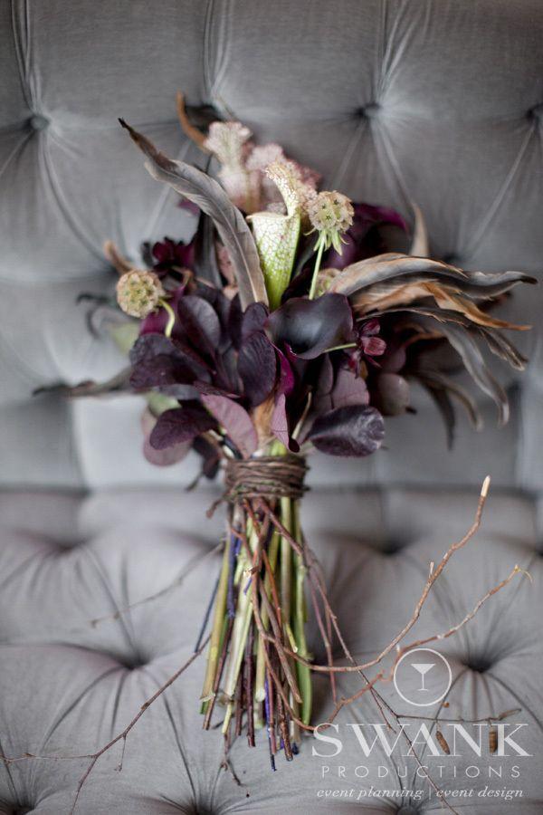 Swank Productions Sleepy Hollow Halloween Wedding #Brides Bouquet #Halloween #Wedding #Bouquet Flowers by Cornucopia Flowers