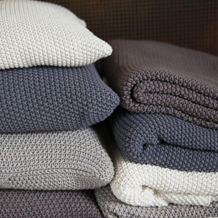 Moss Stitch Cotton Throw