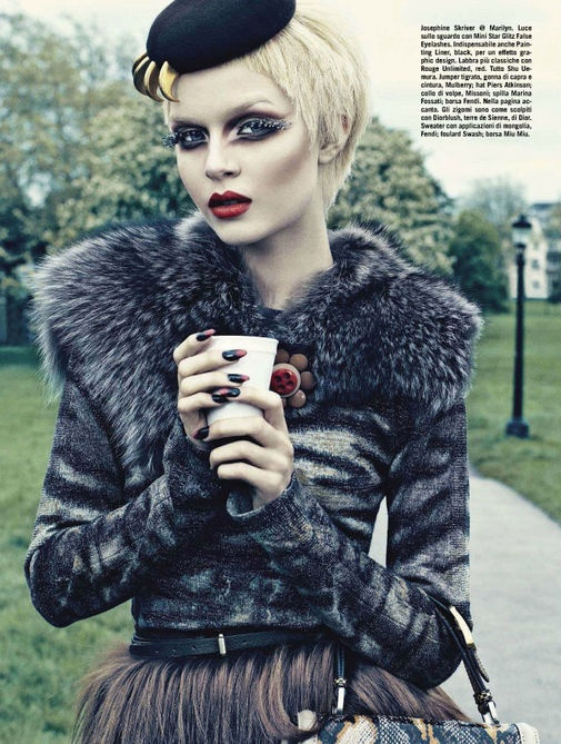 Beauty by Emma Summerton for Vogue Italia August 2012 6, makeup Alex Box