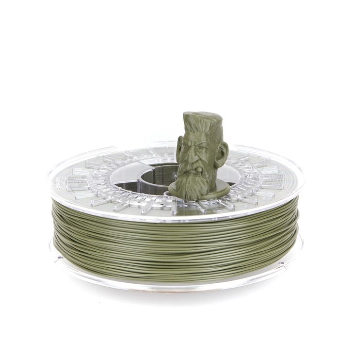 ColorFabb Olive Green PLA filament is designed to work with a wide range of 3D Printers. ColorFabb is available in a wide range of colors. 100% biodegradable, extremely high-quality, imported from Holland. Available in 1.75 mm and 2.85 mm sizes.  #3DPrinting #Filament #ColorFabb