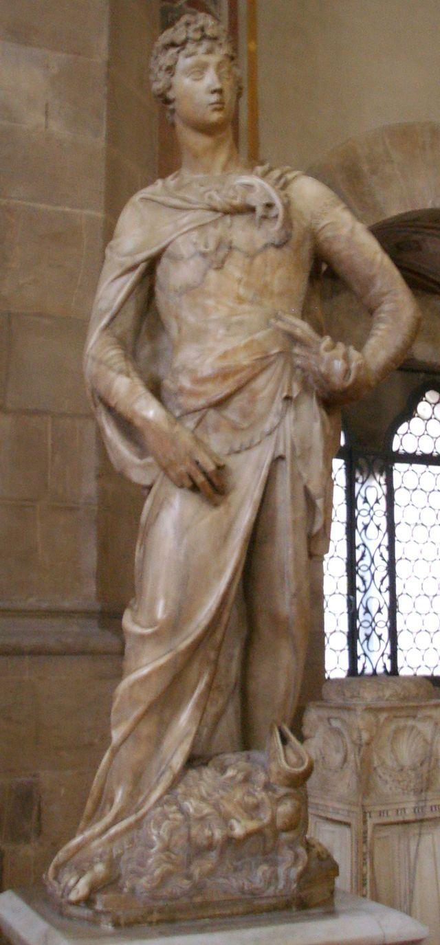 'David' Donatello 1408  http://en.wikipedia.org/wiki/David_(Donatello)
