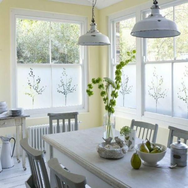 selbstklebend elegant rustikal Fenster Sichtschutzfolie