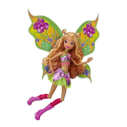 The power of Believix! Girls will want to play out their favorite Believix moments from the show with these beautiful Winx Club Believix fairy dolls. With 11 points of articulation, girls can recreate any fashionable pose they want! The dolls come with a pair of sparkly Believix wings that plug into the Winx