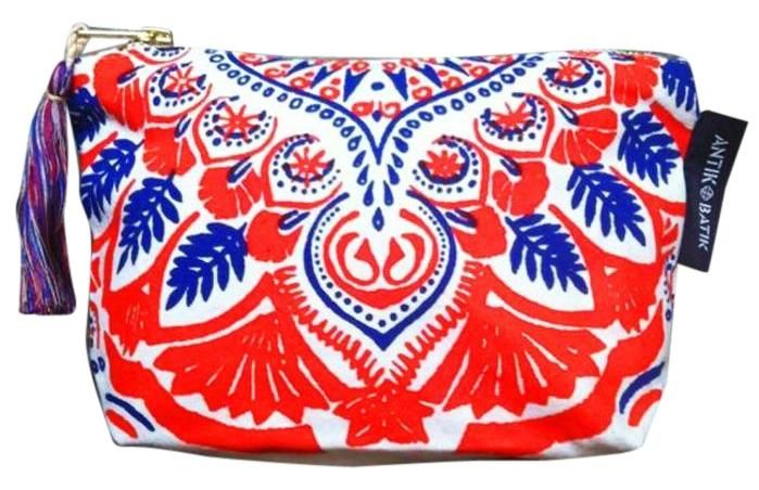 Antik Batik L'occitane Red Pouch Red, White, & Blue Clutch. Get the trendiest Clutch of the season! The Antik Batik L'occitane Red Pouch Red, White, & Blue Clutch is a top 10 member favorite on Tradesy. Save on yours before they are sold out!