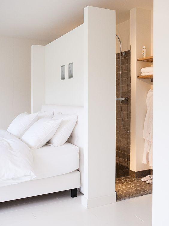 Badkamer en slaapkamer op zolder