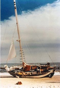 "Satori. Westsail 32. After the ""Perfect Storm"" still intact !"