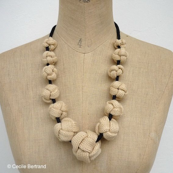 Cecile Bertrand #Knitted #Jewellry