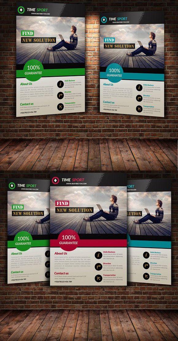 Creative Business Flyer Template Business Flyer Pinterest