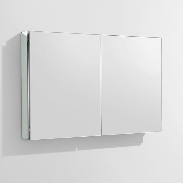 fresca 40 inch wide bathroom medicine cabinet with mirrors overstockcom shopping