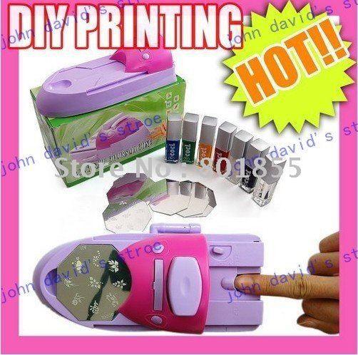 Dispositivo prego, Diy prego stamping máquina de impressão polonês alishoppbrasil